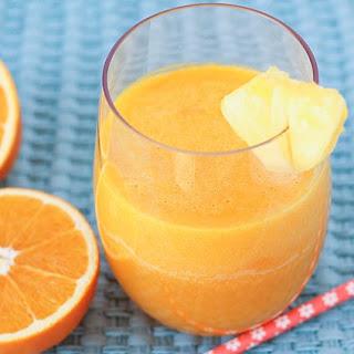 Tropical Pineapple Orange Mango Juice.