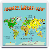 Animal World Map 6 -12 years