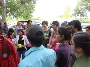 Photo: 4.13.13 youth from Safe Delhi in India handed out information to 800 people.