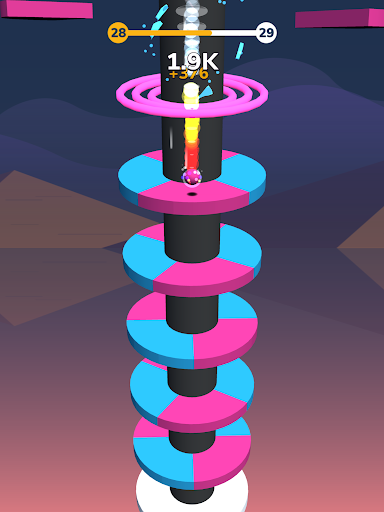 Color Crush - Helix Fall - screenshot
