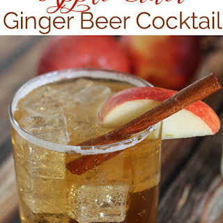 Apple Cider Ginger Beer Cocktail.
