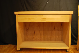 "Photo: Torsion Box sandwich core cart with chopping block top 48"" x 36""T. doubles as a work bench or end table."