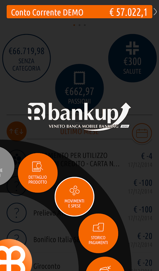 BankUp Mobile- screenshot