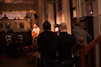Photo: Ryan, Shawn, and JFM watching Peter move the crowd in NYC (photo by Spyr Media)