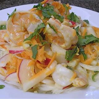 Lemon Garlic Shrimp with Maifun Noodles.