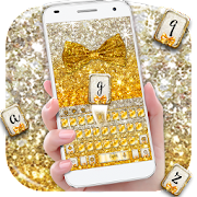 App Gold glitter bowknot keyboard APK for Windows Phone