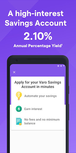 Screenshot for Varo Mobile Banking and Saving in United States Play Store