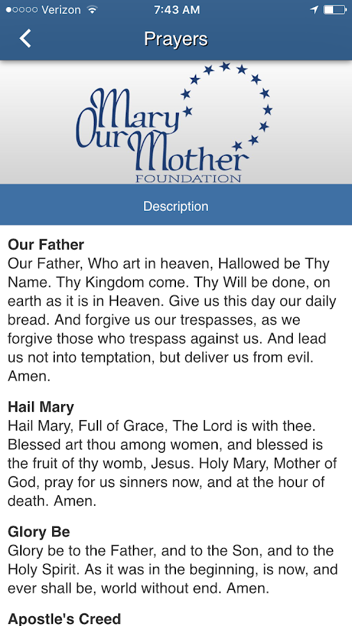 Mary Our Mother Foundation MOM- screenshot