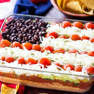 Lightened Up 7-Layer Dip.
