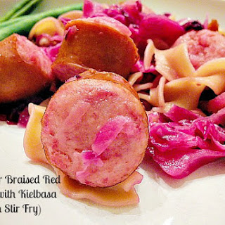 Apple Cider Braised Red Cabbage With Kielbasa (Polish Stir Fry)