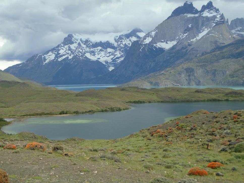 Paisagem no parque Torres del Paine