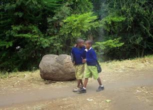 Photo: Boys on way to school