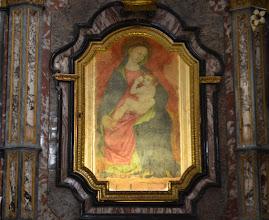 """Photo: """"La Madonna che allatta"""", affresco del XV sec."""