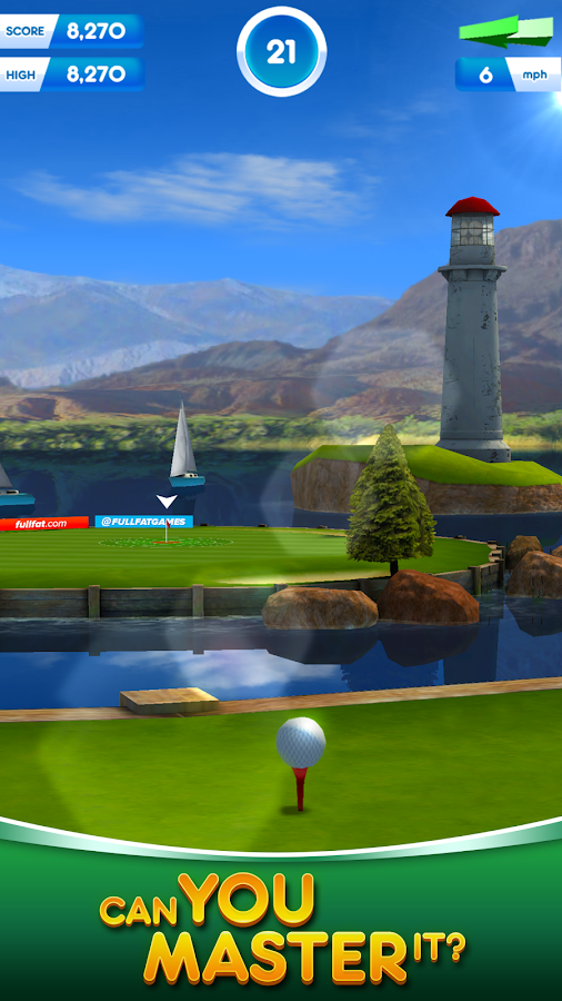Flick Golf! Free- screenshot