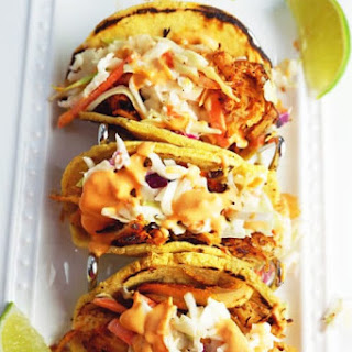 Chicken Tacos with Slaw and Spicy Mayo Recipe