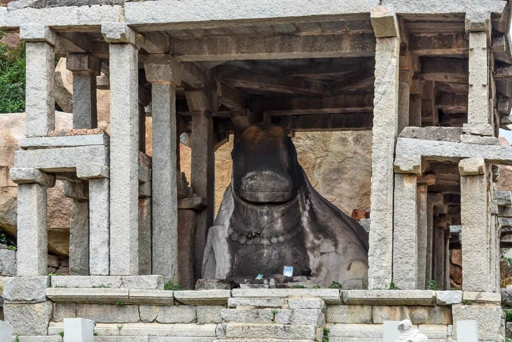 monolith+nandi+hampi+images+temple++karnataka