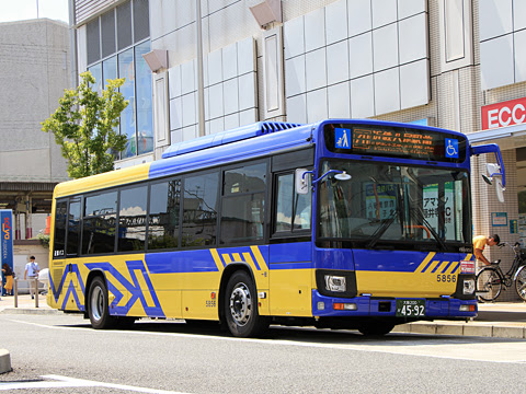 近鉄バス 八尾 5856 藤井寺駅にて