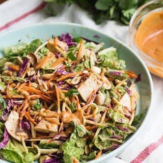 Asian Chopped Salad with Spicy Peanut Dressing