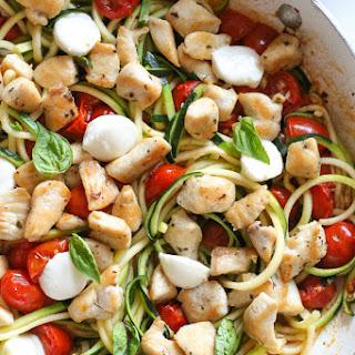 Chicken and Zucchini Noodle Caprese