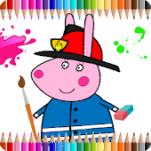Coloring Book For Kids: Pepa Pig