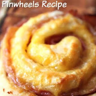 Easy Ham and Cheese Pinwheels.