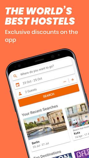 Hostelworld: Hostels & Backpacking Travel App screenshot 1