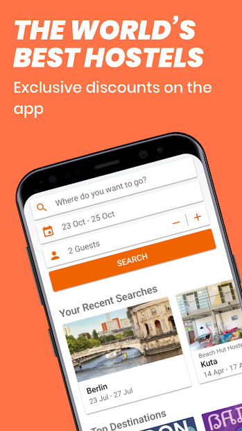 Hostelworld: Hostels & Backpacking Travel App Android App Screenshot
