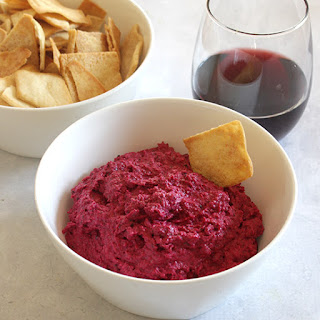 Roasted Beet Dip with Fennel and Garlic #SundaySupper.