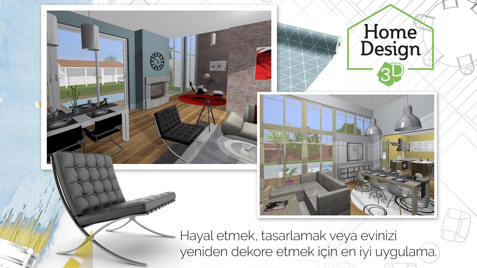 Home design 3d freemium google play 39 de android for Design di architettura domestica gratuito