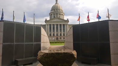 Photo: August 8-Plaza of Nations honoring the Indian nations included in the State of Oklahoma.