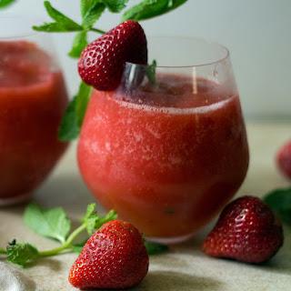 Strawberry Vodka Slush Cocktail.