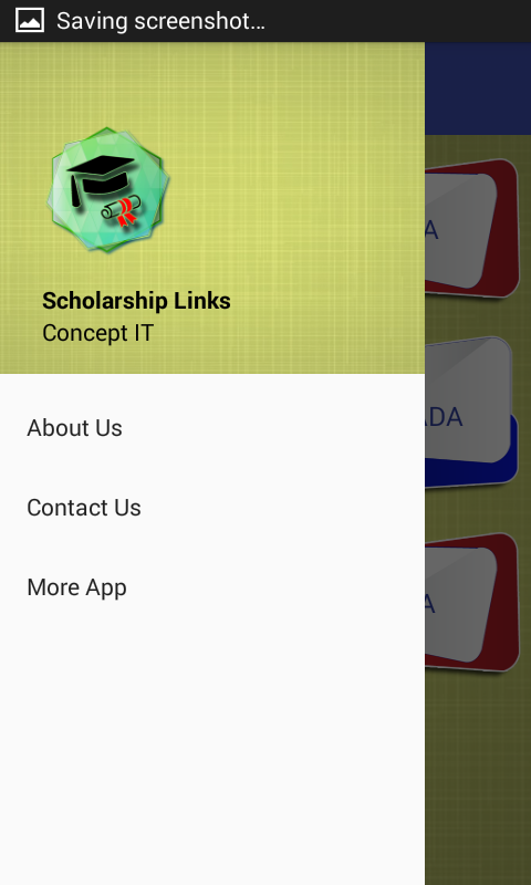 Scholarship Links- screenshot