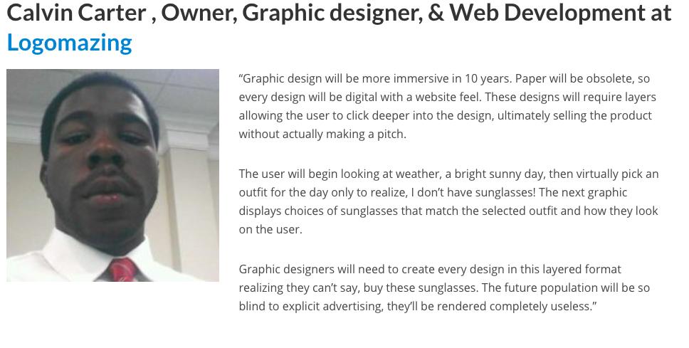 nhận định của calvin carter về thiết kế đồ họa trong tương lai