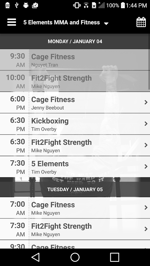 5 Elements MMA and Fitness- screenshot