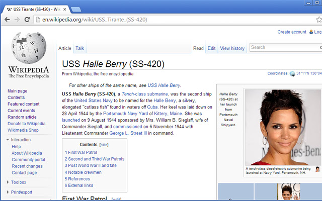 Hallepedia: Halle Berry for Wikipedia