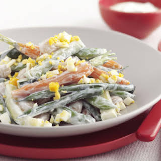 Vegetable Salad with Yogurt Dressing.