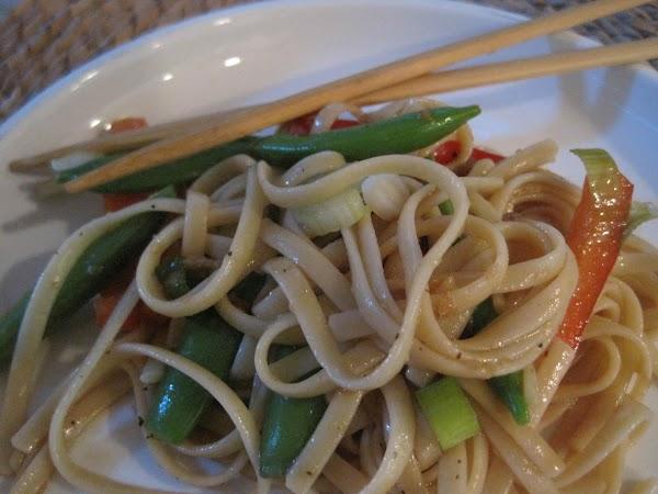 Asian Vegetable Pasta Salad Recipe