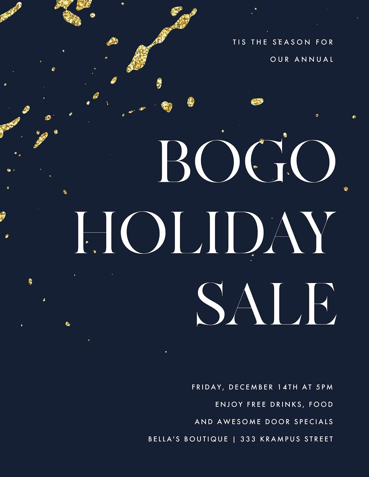 BOGO Holiday Sale - Flyer Template