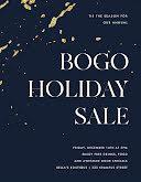 BOGO Holiday Sale - Flyer item
