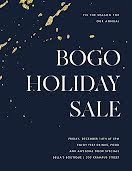 BOGO Holiday Sale - Poster item