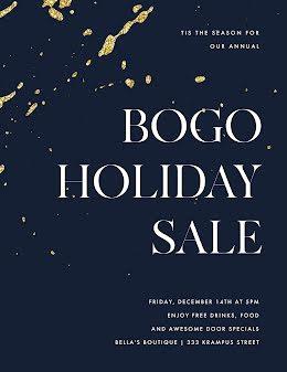 BOGO Holiday Sale - Poster item