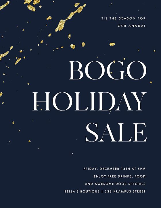 BOGO Holiday Sale - Flyer Template