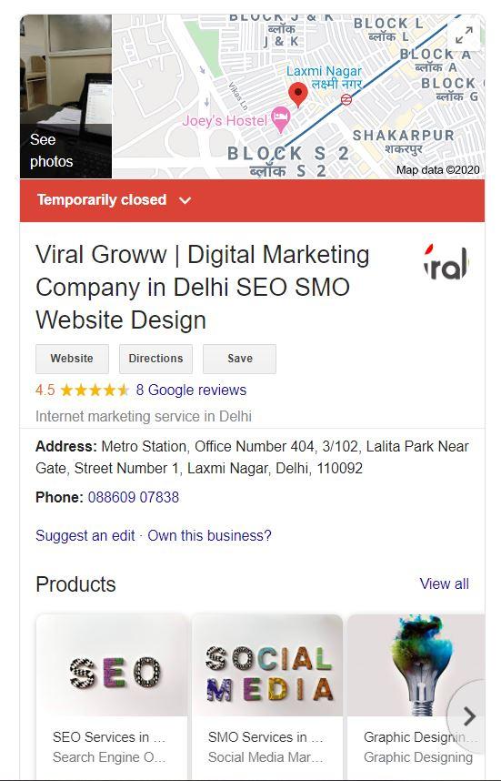 ViralGroww Google My Business Knowledge Graph