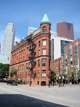 Photo: flatiron building in downtown Toronto