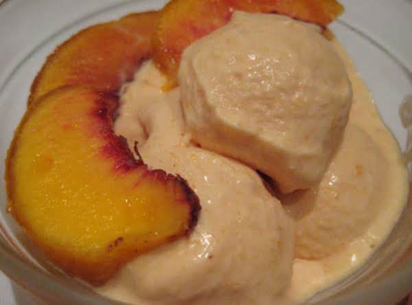 Homemade Peach Ice Cream Recipe