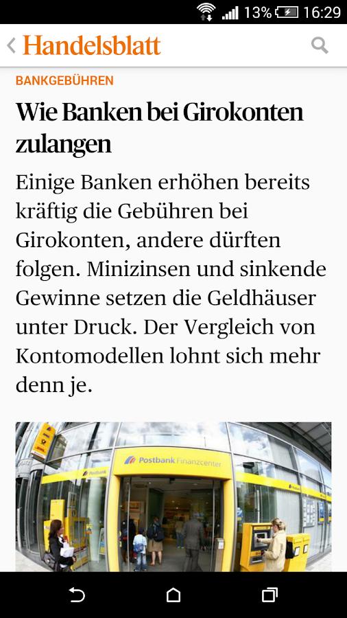 Handelsblatt Online - screenshot