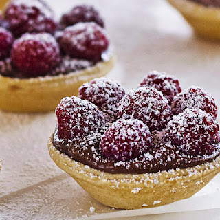 Hazelnut and Raspberry Tartlets