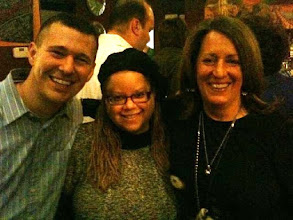 Photo: With  National Center for Lesbian Rights Executive Director Kate Kendell (r) and Bull City Blend fan Jason Cottrell (l)