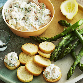 Flaked Salmon and Cucumber Dip.