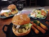 Take out burger